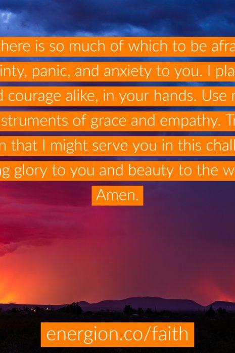 fear prayer
