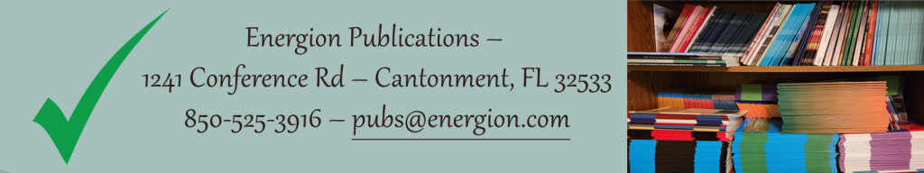 Energion Publications - 1241 Conference Rd - Cantonment, FL 32533 - 850-525-3916